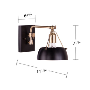 Renmarco Contemporary Wall Sconce - Black