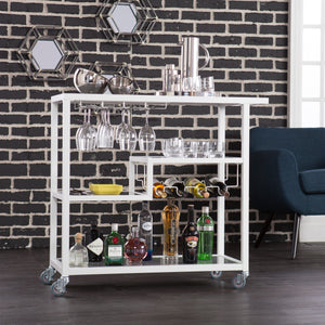 Zephs Bar Cart - White