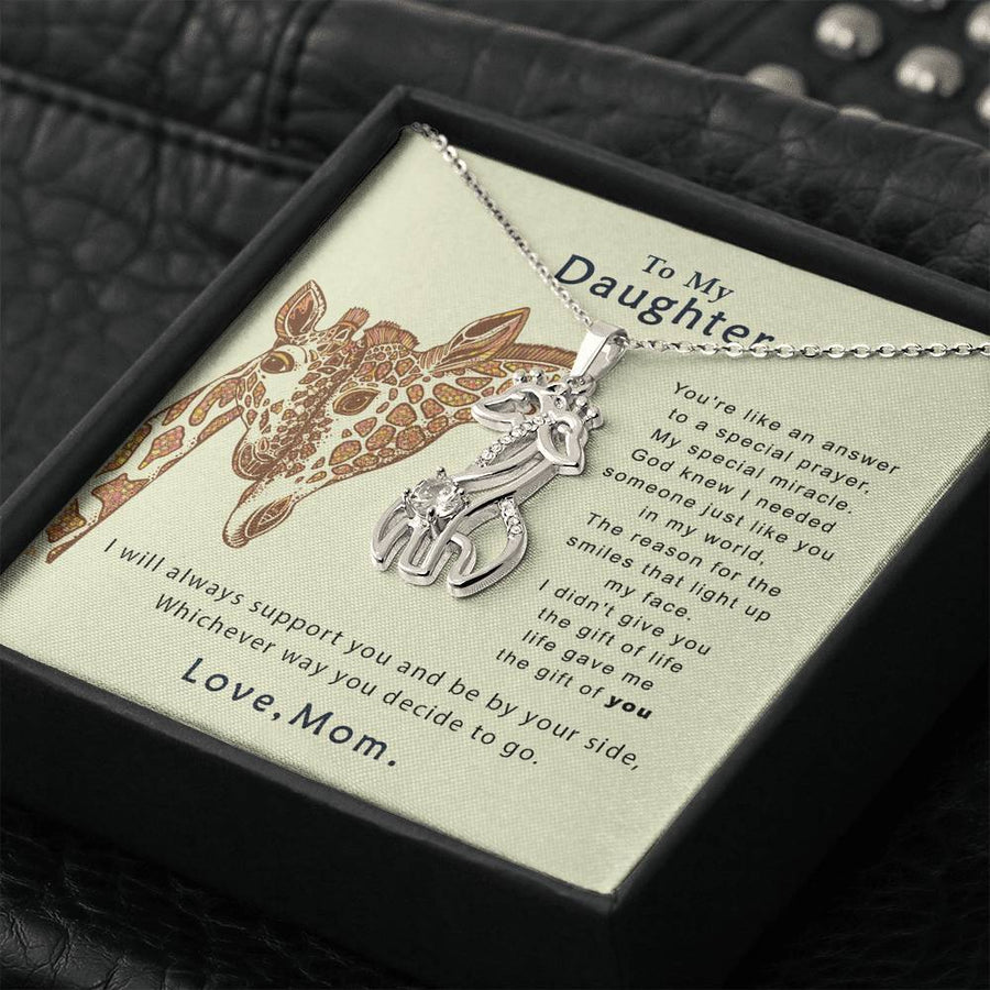 To My Daughter - My Miracle-  Necklace