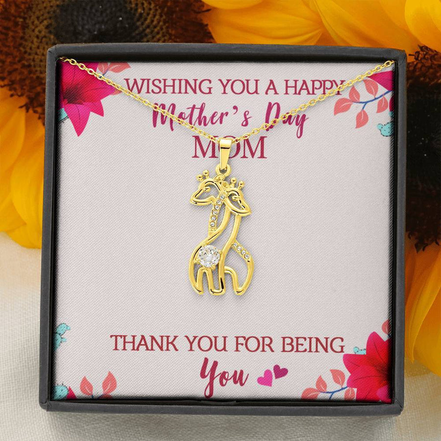 Wishing You A Happy Mother's Day Necklace