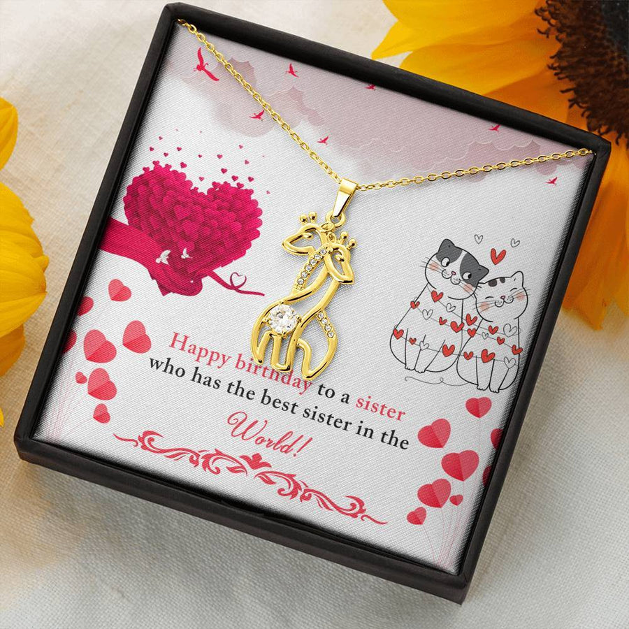 Sister to Sister - Happy Birthday Necklace