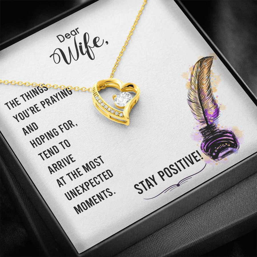 Stay Positive Necklace for Wife