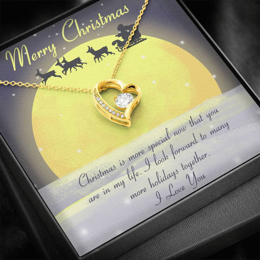 Gift for girlfriend christmas necklace...Christmas is more special