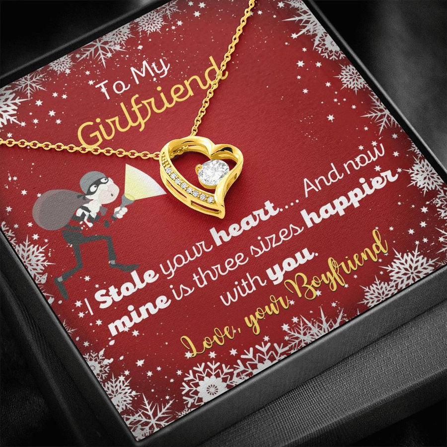 Funny Christmas Necklace For Girlfriend |  I Stole Your Heart