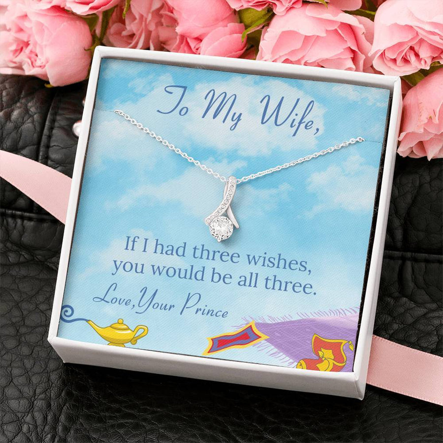 To My Wife Necklace, Gorgeous Wife Necklace, Gift For Wife, Gift For Wife Birthday, Gift For Wife From Husband, Anniversary Gift For Wife