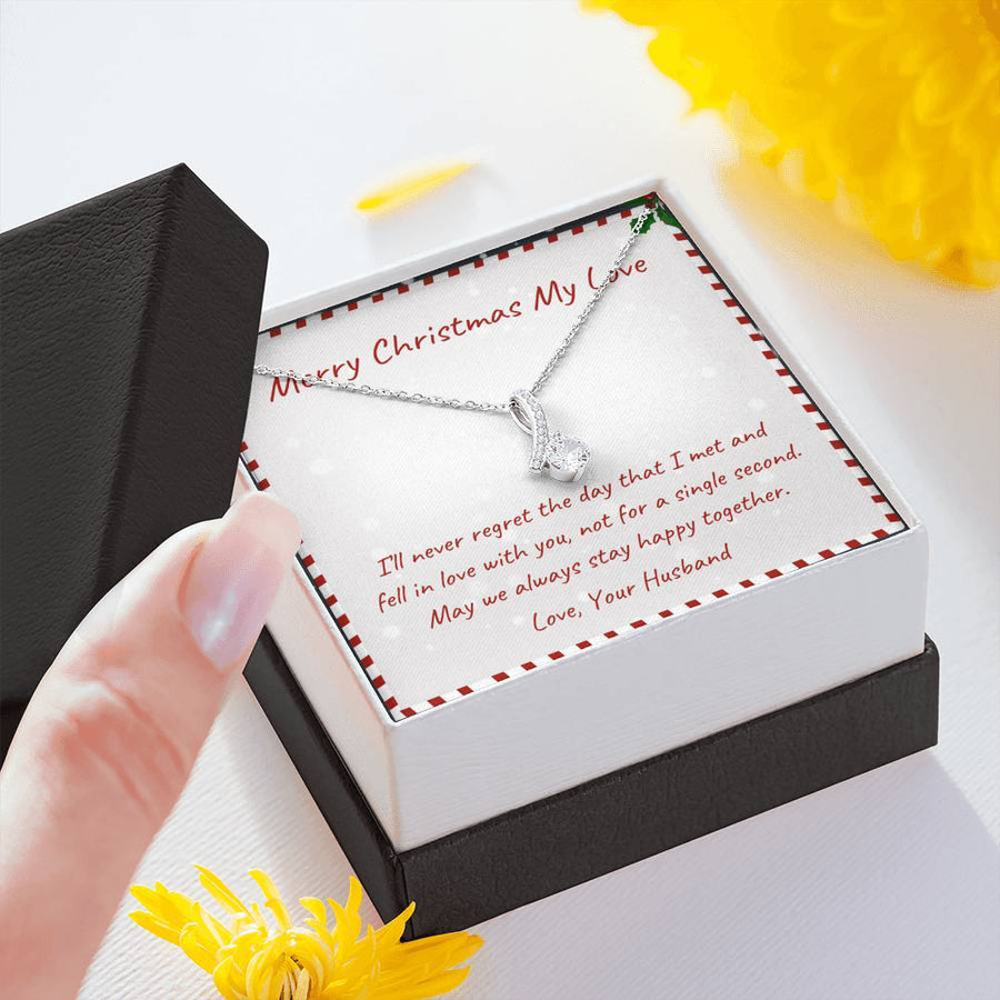 Christmas gift for wife from husband, Christmas Necklace gift for wife, Birthday for wife, Birthday gift for wife, Anniversary gift for wife