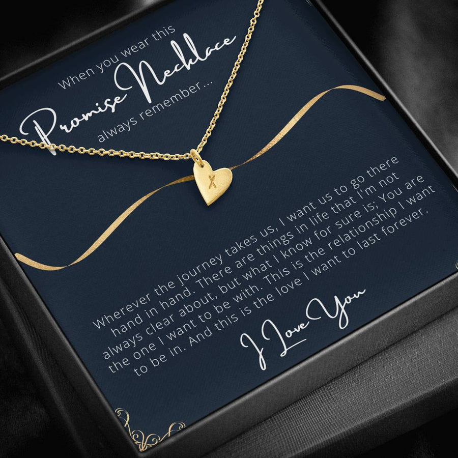 Promise necklace for her..When you wear this always remember