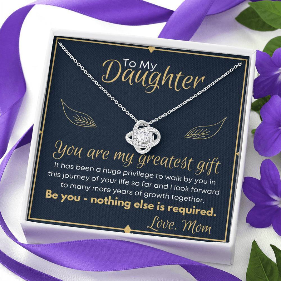 To My Daughter You Are My Greatest Gift Necklace