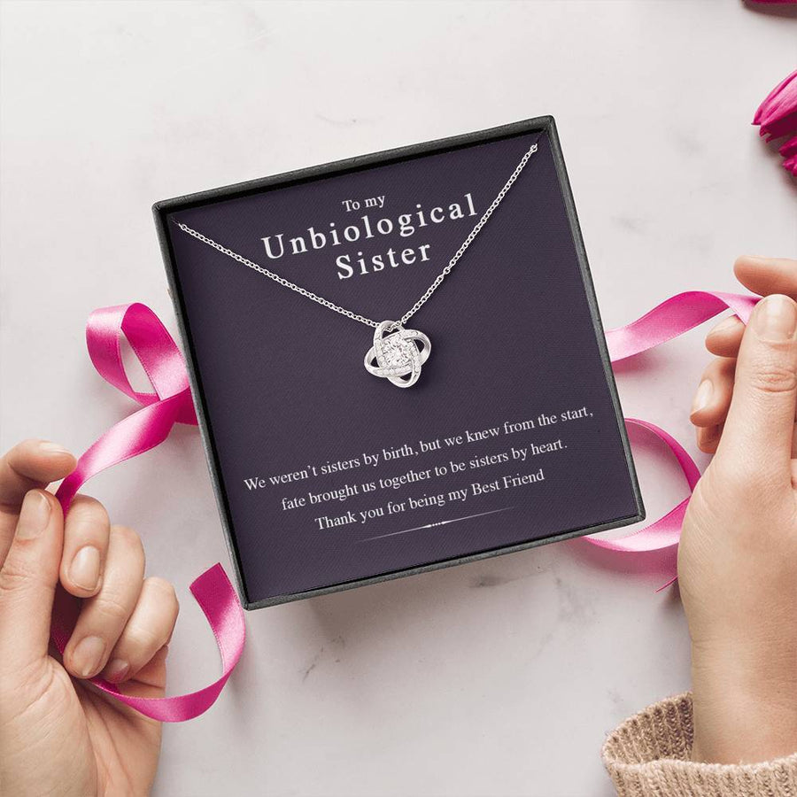 Unbiological Sister - Friendship Knot Necklace - The Perfect Gift Your Best Friend (Almost Sold Out)