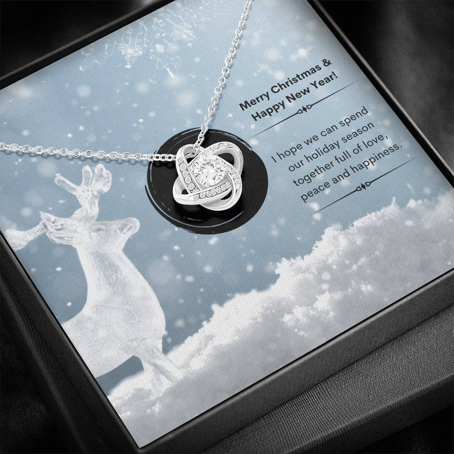 Crystal Deer - Love Knot Necklace