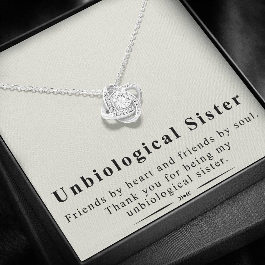 Unbiological Sister - Friendship Knot Necklace - The perfect gift for BFFs (almost sold out)