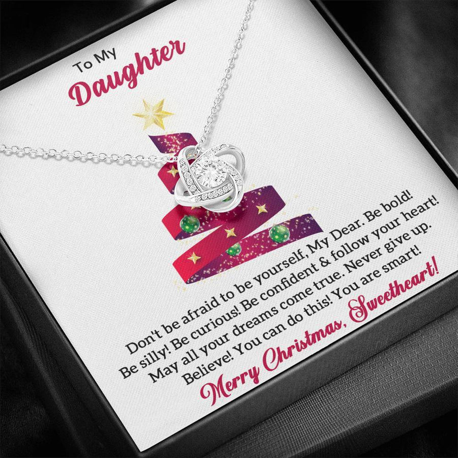 Merry Christmas My Dear Daughter Necklace