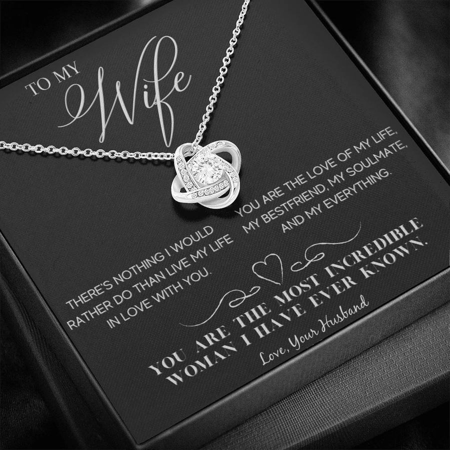 To My Wife Love Husband - Love Knot Necklace