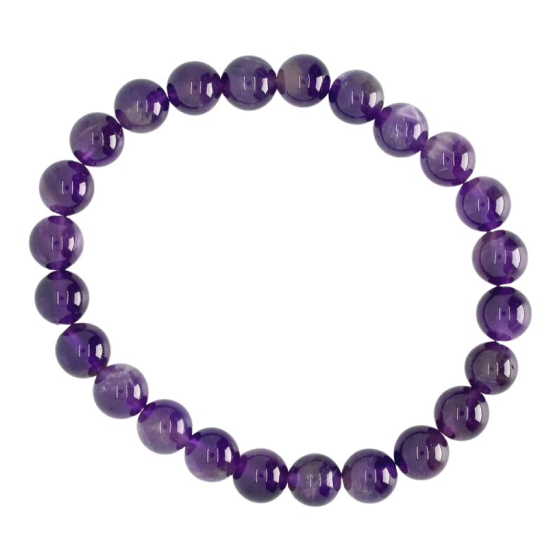 Amethyst Beaded Bracelet (8mm)