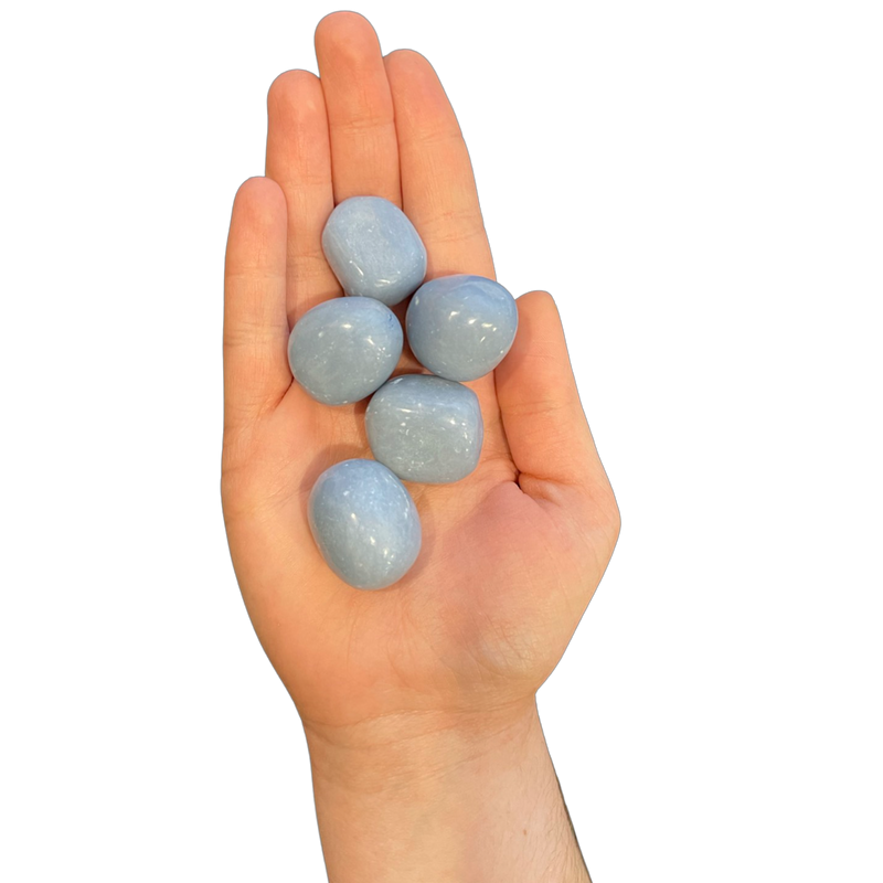 Angelite Tumbled Stones (4oz)