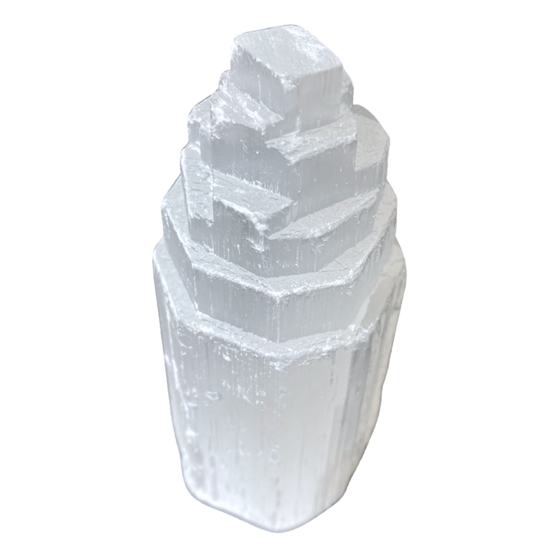 Selenite 10cm Tower