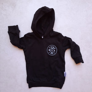 Hoodie : Monkeybum Badge Black