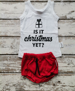 Tank Top: Is It Christmas Yet? (0-3 only)