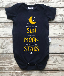 Onesie:  Sun, Moon and all of my Stars (12-18 only)