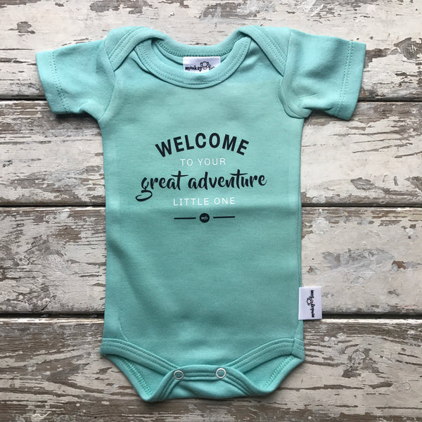 Onesie: Welcome to Your Great Adventure