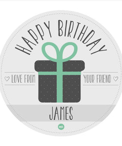 Stickers: Happy Birthday (Present)