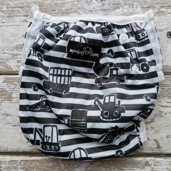 Swim Nappy:  Construction Cars