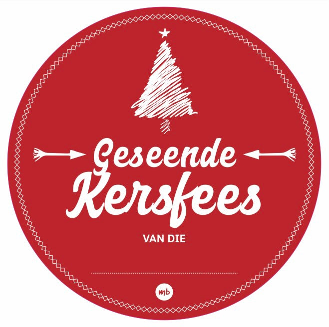 Stickers: Traditional Geseënde Kersfees