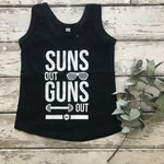Tank Top: NEW Suns Out Guns Out