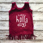 Fringe Dress: Happy HOLLA Days