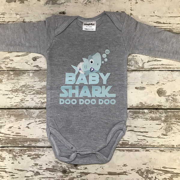 Onesie: Baby Shark (Mint)