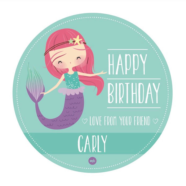 Stickers: Happy Birthday (Mermaid)