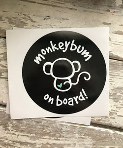 Sticker: Monkeybum on Board