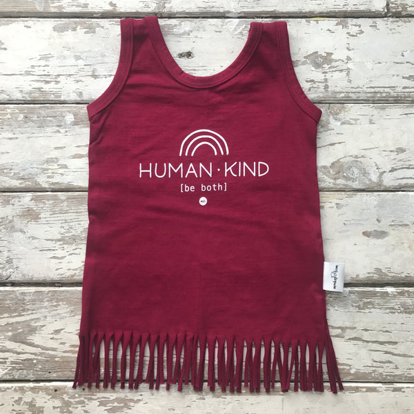 Fringe Dress: Human Kind (6-12 only)