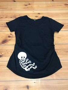 Maternity Top: Skeleton Baby