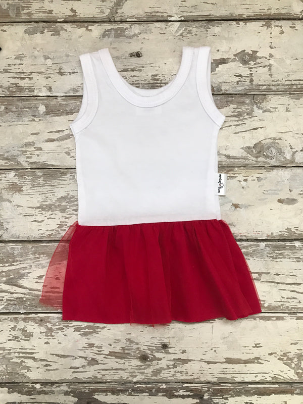 Dress:  White and Red