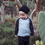 Raglan: Grey and Black
