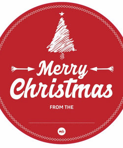 Stickers: Traditional Merry Christmas