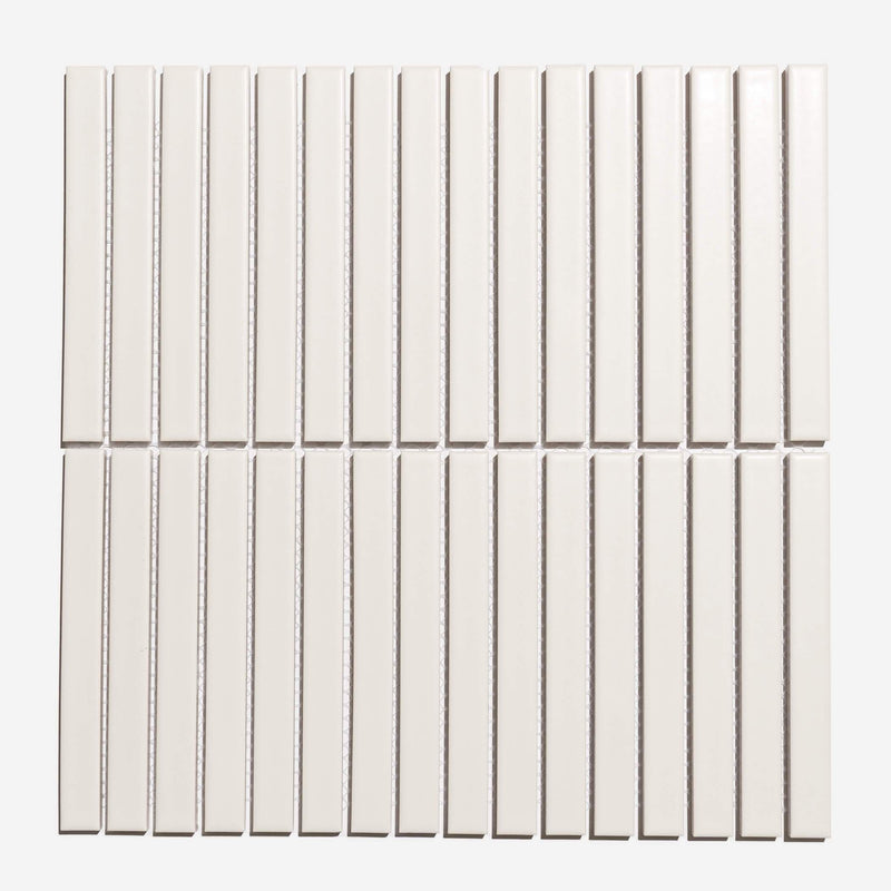 Blanco Sticks - White Matt Ceramic Mosaic