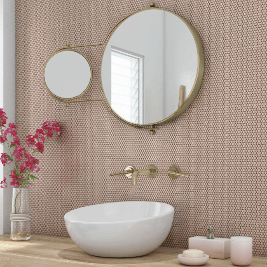 Button Pink Mosaic