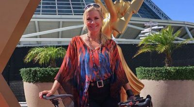 Biking to the Emmy Awards!