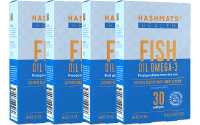 Fish Oil Omega-3 (30x4 softgels) Bundle - Hashmats Health