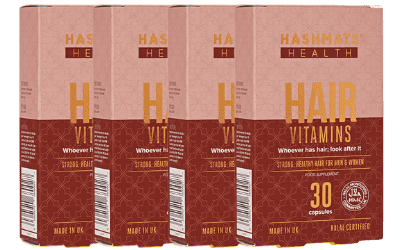 HASHMATS Health Hair Vitamins (30 tablets) x4