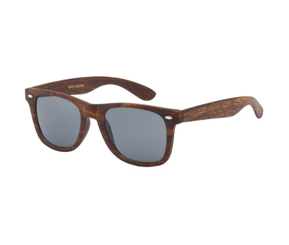 Retro Faux Wood Sunglasses