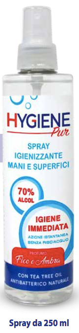 HYGIENEPUR SPRAY IGIENIZZANTE MANI E SUPERFICI 250 ML