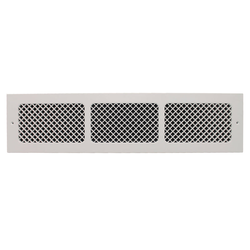 "Essex - White Wall Mount Decorative Return Air Grille - 30"" in x 6"" in"