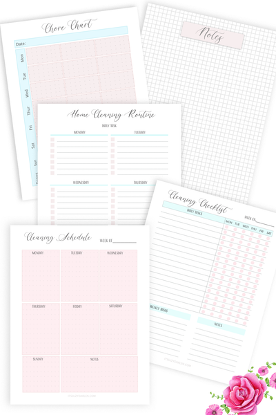 Cleaning Planner Printable  (Digital Download)