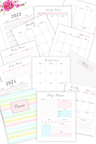 Undated Planner Printable  (Digital Download)