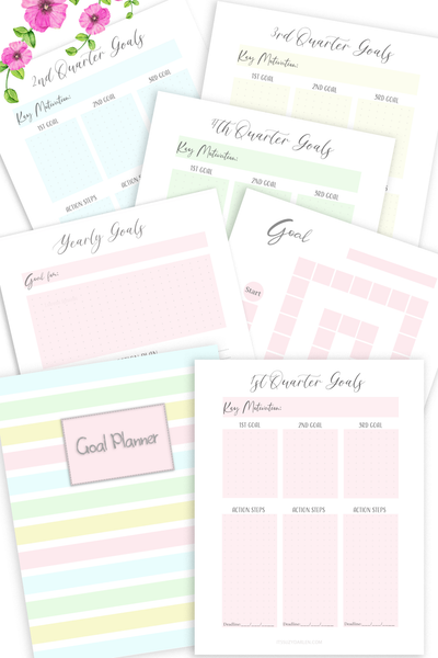 Goal Planner Printable (Digital Download)