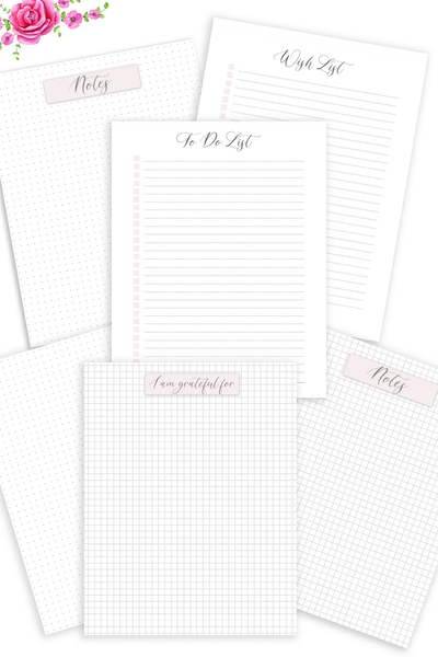 Dot Grid Paper, Wish List, To Do List, (Digital Download)