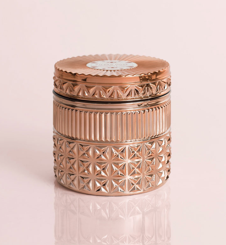 Gilded Faceted Jar Candle